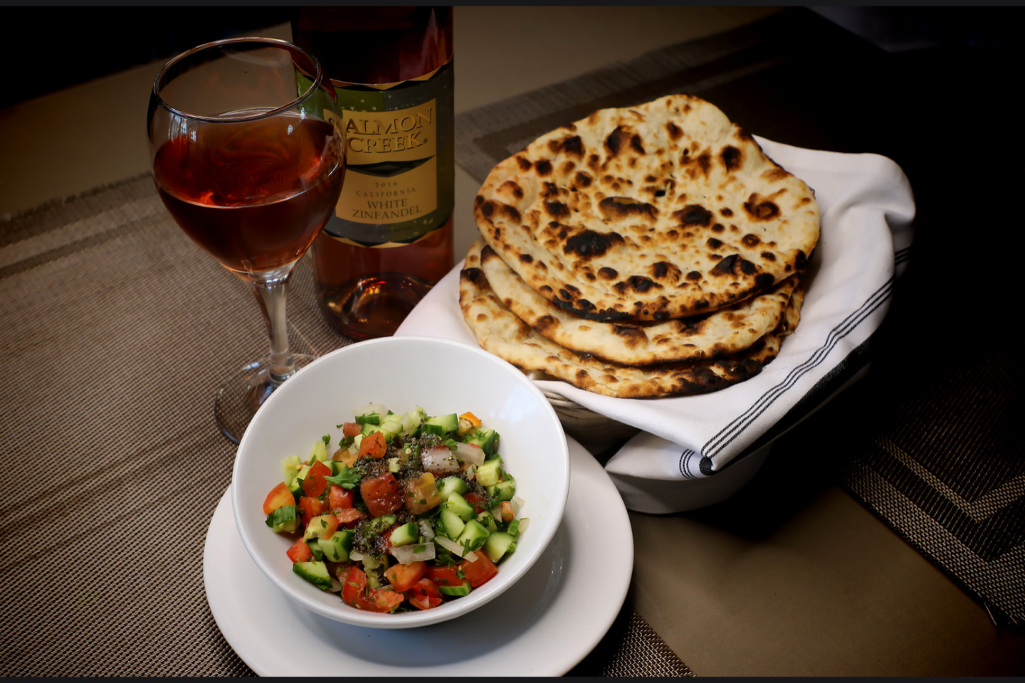 Persian Salad and Bread